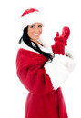 Young Woman In Santa Clause Costume. Royalty Free Stock Photos - 28356138