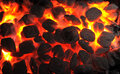 Barbecue Charcoals In Portable Grill Royalty Free Stock Image - 28357756