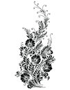 Vector - Abstract Black Floral Vine Stock Photos - 28362073