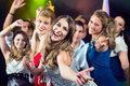Party People Dancing In Disco Club Stock Photography - 28366292