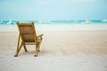 Beach Chair On Perfect Tropical White Sand Beach Stock Images - 28367684