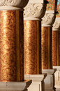 Columns In An Ancient Orthodox Monastery Royalty Free Stock Photos - 28368698