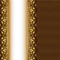 Background With Gold(en) Pattern And Net Royalty Free Stock Image - 28370066