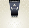Royal Seamless Pattern With Crown  Light Royalty Free Stock Images - 28370409