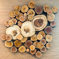 A Pile Of Cut Wood Stock Photography - 28374152