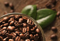 Coffee Beans And Leaves Royalty Free Stock Photos - 28382148