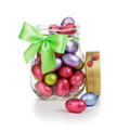 Easter Eggs In Glass Jar Stock Image - 28386951