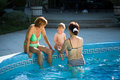 On Poolside Royalty Free Stock Photo - 2842395