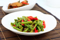 Stir Fry Long Bean Royalty Free Stock Images - 28407839