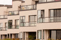 Outside Facade Of Modern Apartment Block Building Royalty Free Stock Photo - 28410025