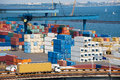 Truck Transport Container Near Sea Stock Images - 28410544