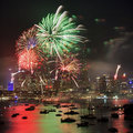 Sy Firework 2013 End Square Royalty Free Stock Photography - 28415217