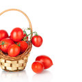 Cherry Tomatoes In A Basket Stock Image - 28416681