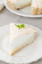 Piece Of Lemon Tart With Meringue On A Plate Stock Photography - 28420132