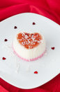Two-layer Dessert With Coconut Cream In The Form Of Heart On A R Stock Image - 28420211