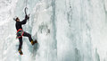 Ice Climbing In South Tyrol, Italy Stock Image - 28435621