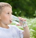 Child Drinking Pure Water Royalty Free Stock Photo - 28441565