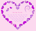 Stylized Heart In Violet Colors Royalty Free Stock Images - 28446779