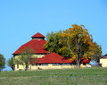 Round Barn With Shingle Roof Stock Photo - 28447870