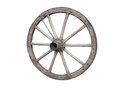 Antique Cart Wheel Made Of Wood And Iron-lined, Isolated Stock Photography - 28451382