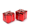 Small Red Present Boxes Stock Photos - 28453223