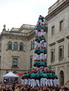 Human Tower In Barcelona Stock Images - 28455804
