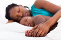 Mother Baby Napping Royalty Free Stock Photography - 28457327