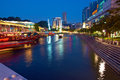 Singapore. Clarke Quay At Night Stock Photo - 28460560