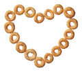 Cheerios Cereal In A Heart Shape Isolated On White Royalty Free Stock Photo - 28465925