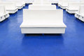 White Seat Or Bench On A Ferry Boat As Background Stock Photos - 28469493