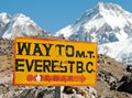 Signpost Way To Mount Everest B.c. Stock Photography - 28473042