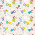 Cartoon Romantic Seamless Pattern With Angels Royalty Free Stock Photos - 28476388