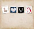 Love Word Made Of Four Different Objects Royalty Free Stock Photography - 28481067