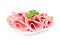 Pieces Of Sliced ham Royalty Free Stock Images - 28484499