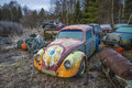 Scrapyard For Cars (volkswagen) Stock Photography - 28485302