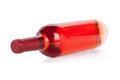 Bottle Of Rose Wine On White Stock Photo - 28485700