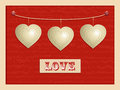Love And Hanging Hearts Background2 Royalty Free Stock Photos - 28491088
