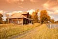 Old Wooden House In Russian Village Stock Photography - 28492852