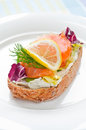 Sandwich With Smoked Salmon Royalty Free Stock Image - 28493246