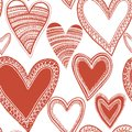 Seamless Red Heart Pattern Royalty Free Stock Photo - 28495515