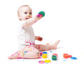 Year-old Child With Paint Royalty Free Stock Photos - 28495598