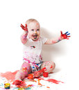 Year-old Child With Paint Royalty Free Stock Photos - 28495628