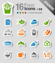 Stickers - Food Icons Stock Image - 28501751