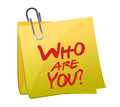 Who Are You Post It Royalty Free Stock Images - 28505979