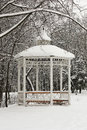 Winter.Arbour In Park. Stock Photography - 28507162