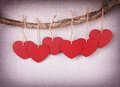 Red Wooden Heart Royalty Free Stock Photos - 28512588