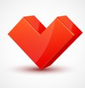 Red Shiny 3d Cubic Heart Royalty Free Stock Photo - 28514685
