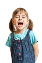 Pretty Sweet Young Girl Laughing Isolated Stock Images - 28519874