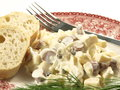 Salad With Sausages And Cheese Stock Photography - 28520242