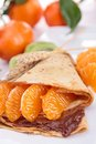 Crepe With Fruit And Chocolate Stock Photography - 28534902